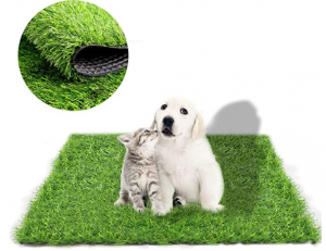 Fortune-star 39.3in X 31.5in Artificial Grass Dog Grass Mat and Grass Doormat