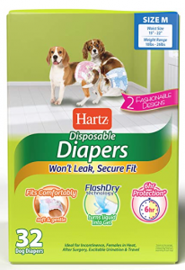 Hartz Disposable Male Dog Wraps with FlashDry Gel Technology