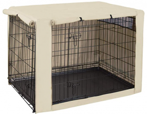HiCaptain Double Door Dog Crate Cover