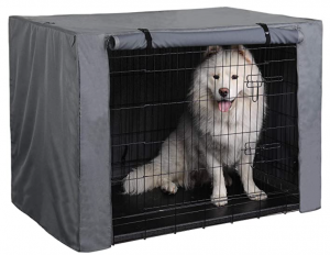 PINGKO Durable Dog Crate Cover-Water Resistant Breathing,Lightweight 600D Polyester