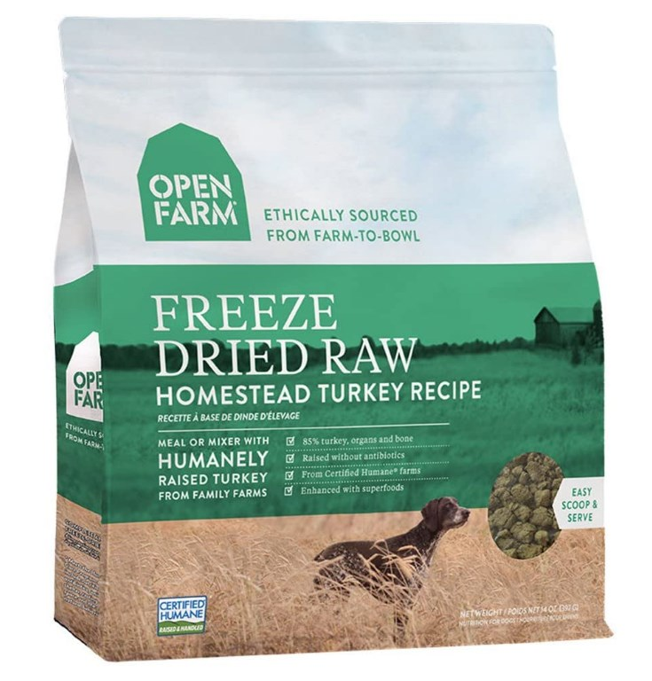 Open Farm Freeze Dried Raw Dog Food, Humanely Raised Meat Recipe