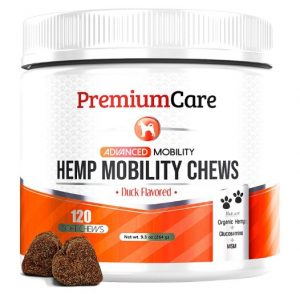 PREMIUM CARE Glucosamine for Dogs with Organic Hemp - Advanced Hemp Hip & Joint Supplement for Dogs