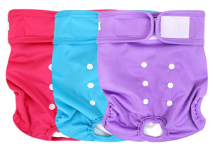 wegreeco Washable Female Dog Diapers (Pack of 3)