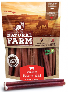 Natural Farm Odor Free Dog Beef Sticks