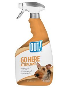 OUT! Go Here Attractant Indoor & Outdoor Dog Training Spray