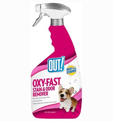 out oxy fast activated pet stain remover