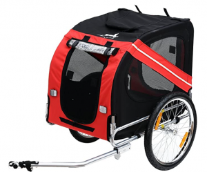 Aosom Bike Trailer Cargo Cart for Dogs
